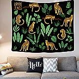 Brandless Cute Little Girl and Cat Tapestry Telón de Fondo Hippie Art Wall Hanging Throw Mantel para Dormitorio Sala de Estar Dormitorio Habitación (95x73cm)