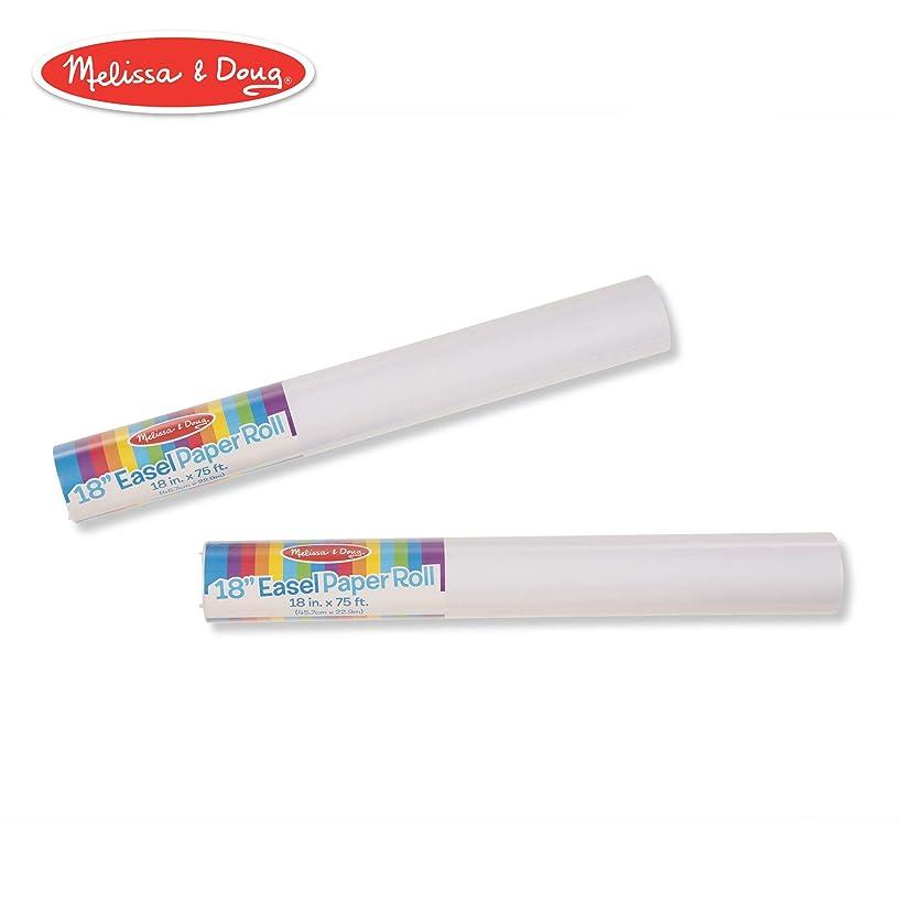 Melissa & Doug 18-Inch Easel Paper Rolls, Arts & Crafts, Bond Paper, 75-Foot Roll, 2-Pack, 18″ W × 75′ L