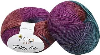 Clearance Sale! Yarns for Knitting Crochet Craft,KFSO Hand Knitting Knicker Yarn Crochet Soft Scarf Sweater Hat Yarn Knitwear Wool,Rainbow Color (G2)