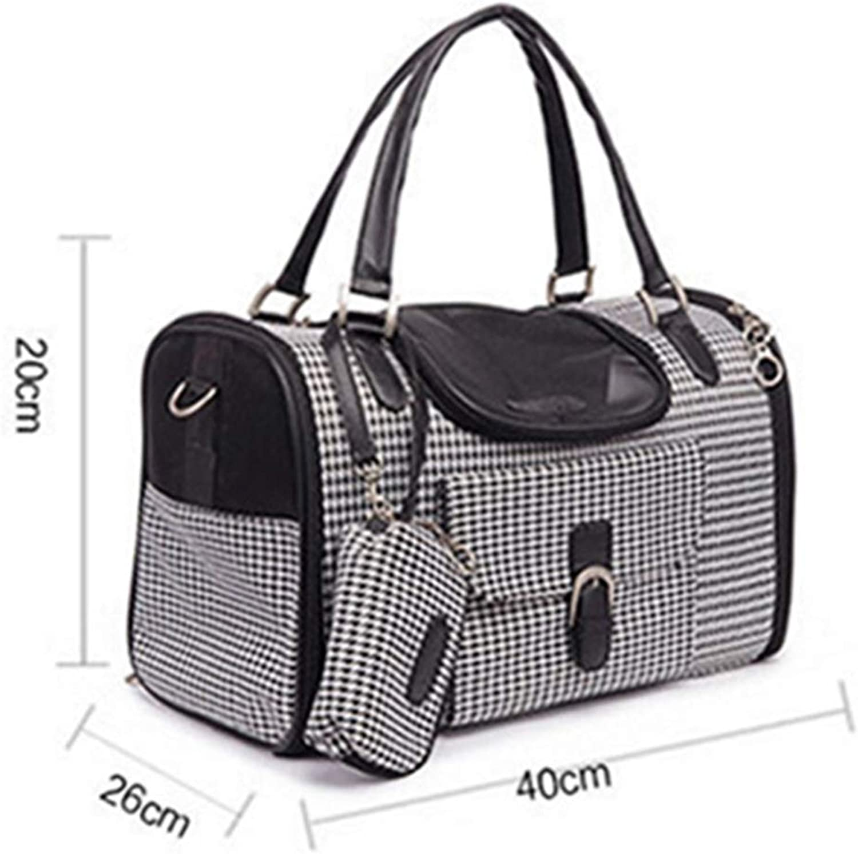 Basde Pet Car Seat for Cats Dogs, Small animal Shoulder bag, Handbag, Mesh Ventilation, Included Tether