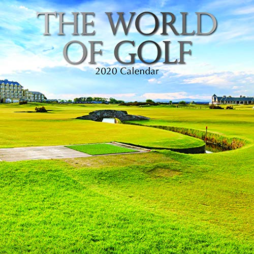 2020 Wall Calendar - World of Golf Calendar, 12 x 12 Inch Monthly View, 16-Month, Sports Theme, Includes 180 Reminder Stickers
