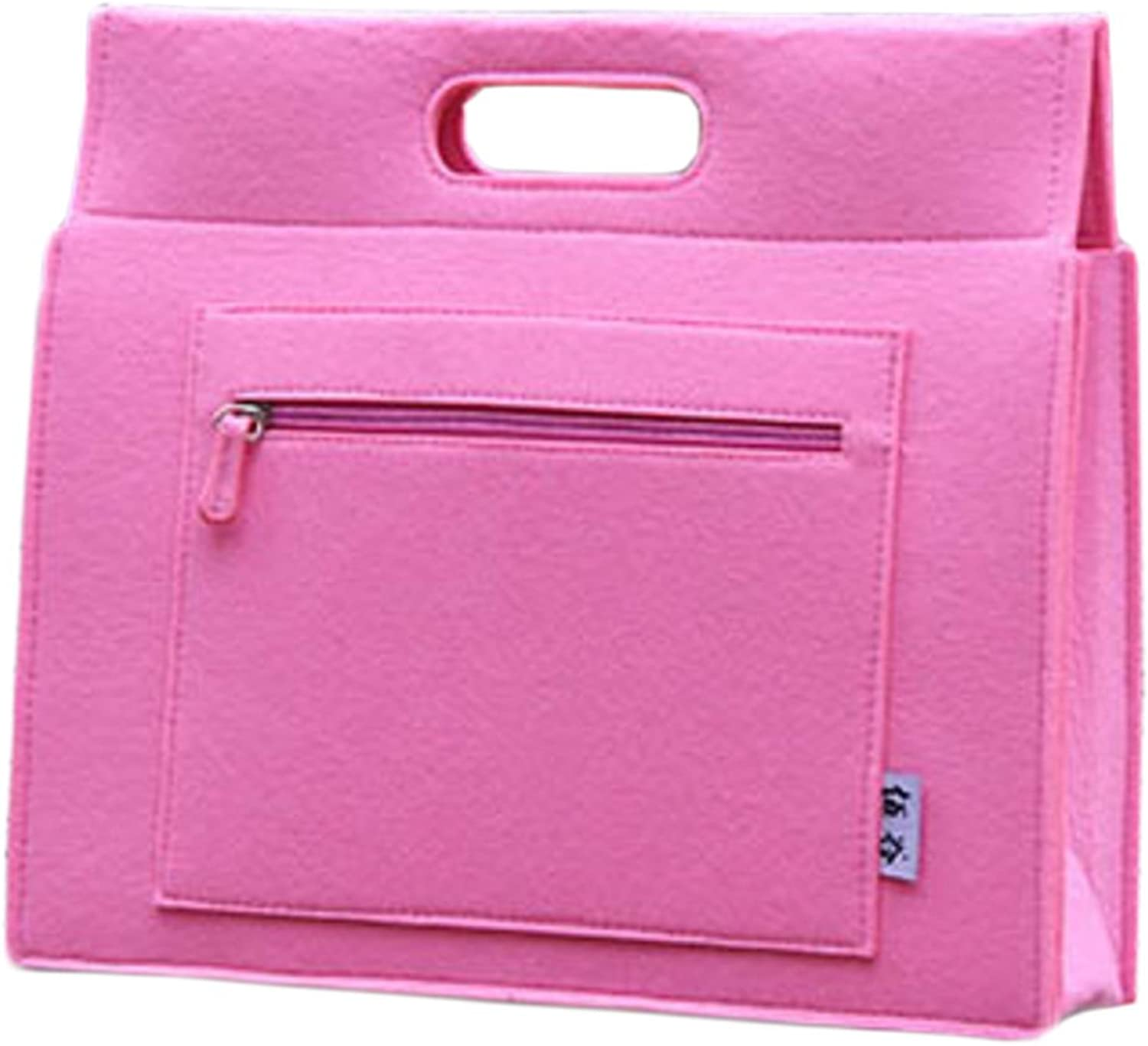 Classic Portable Business Messenger Bag,15.6 inch Pink