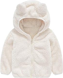 TOPKEAL, Lindo Abrigo con Capucha de Orejas de Oso de Manga Larga para Niños Chaqueta Felpa Gruesa de Algodón de Bebé