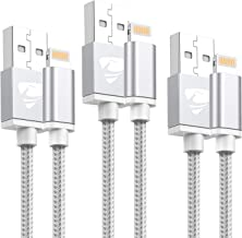 Aioneus Cable iPhone 2M 3 Pack [MFi Certificado] Cargador iPhone Garantía de Nylon Trenzado Cable Lightning Compatible con iPhone X/ 8/8 Plus/ 7/7 Plus/ 6 6s / 6 Plus/ 5 5S/ iPad/iPod?Blanco?