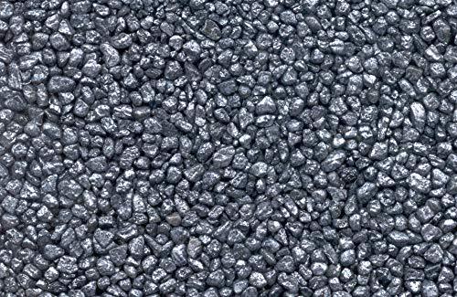 2-2,4m² -25 kg Steinteppich/silbergrau metallic 2-4mm, inkl. 1,5kg Epoxidharz-Bindemittel