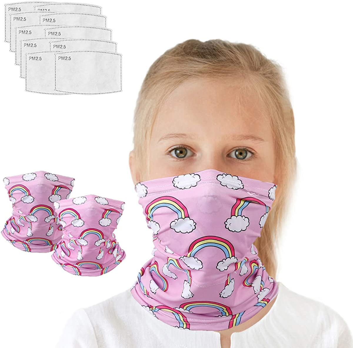 2Pcs Neck Gaiter with Filters Cover Outdoors Face Cash special price Washable for supreme