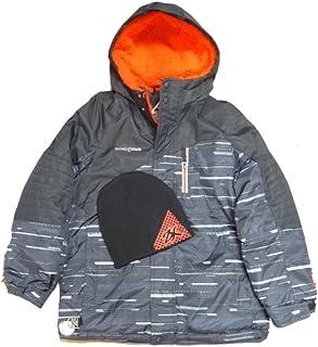 ゼロXposur Boysブラックレッドパファージャケット冬スノーボードコートBeanie Set