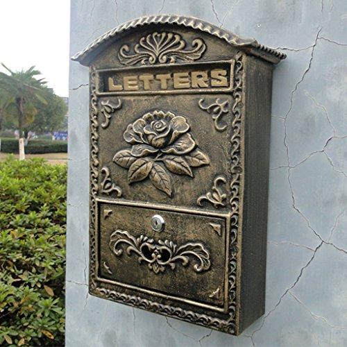 CS Industriële stijl Outdoor brievenbus van villa te maken oude handwerk letters box muur gietijzer waterdicht