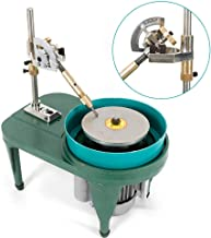 WUPYI Professional Gem Faceting Machine Jewel Angle Polisher,110V 180W Gemstone Grinding Machine Jewelry Polishing Machine Ring Surface Grinder Flat Bench Polisher,2800r/min