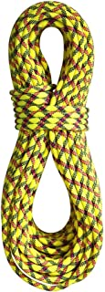product image for BlueWater Ropes 9.7mm Lightning Pro Double Dry Dynamic Single Rope (Yellow/Slate, 60M)