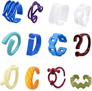Petiy Beauty 12 Pieces of Chunky Color Rings, Resin Ring Acrylic Cute Fashion Ring Set, Square Trendy Opening Ring Jewelr...