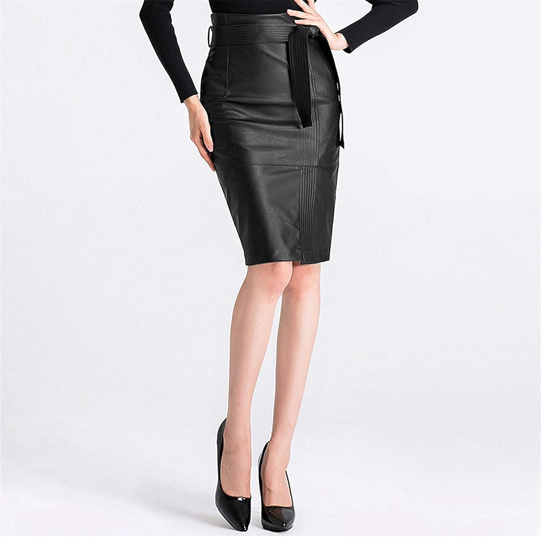 Cheryl Bull Nice High Waist PU Leather Skirt with Sash Autumn Elegant Zipper Short Black Green Skirts