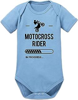 Shirtcity Motocross Rider in Progress Baby Strampler by