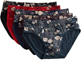 Loveso 5PC Men's Cotton Briefs Printed Color Underwear Soft Breathable Knickers Triangle Panties