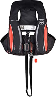 Ocean Safety Kru Sport Pro 170N ADV Automatic Lifejacket with Harness, Hood & Light Carbon Red - Lifejacket Light