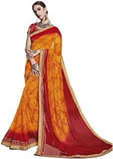 Best bandhej saree design Reviews