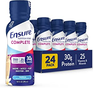 Ensure COMPLETE Nutrition Shake 30g of Protein Meal Replacement Shake with Nutrients for Immune Health 10 fl oz, Vanilla, 24 Count