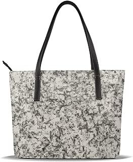 Women Purse Granite Marble Handbags Tote Shoulder Satchel Messenger Top Handle Hobo Bag Leather Large Capacity