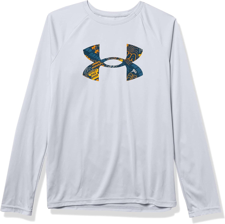Under Armour Boys' Tech Logo Fill Long-Sleeve T-Shirt