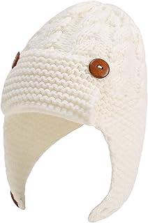ROSEBEAR Bébé Oreille Chapeau Bonnet Infantile Bonnet Enfant en Bas Âge Hiver Bonnet Tricoté Chaud pour Les Bébés de 0 à 3...