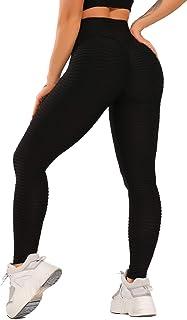 FITTOO Dames Scrunch Butt Leggings Honingraat Yoga Broek Booty Lifting Fitness Broek Push-Up Sportbroek Stretch Workout Fi...