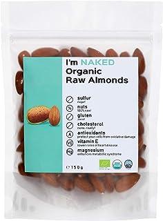 Naked Organic Raw Almonds, 150g