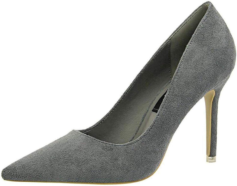 shoes Heel Woman Flock High Heels Women Pumps Office shoes Pointed Toe Summer Heels