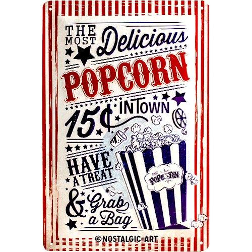 Nostalgic-Art 22263 USA - Popcorn, Blechschild 20x30 cm