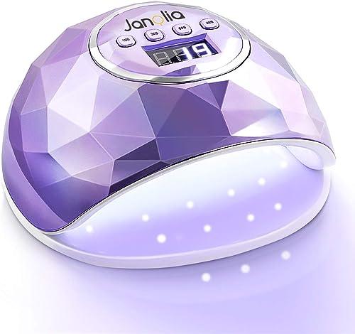 Janolia Lampe UV LED Ongles Gel, 86W Portable Séchoir à Ongles avec 39 LED Lumières, 10S Séchage Rapide, 4 Minuteries...