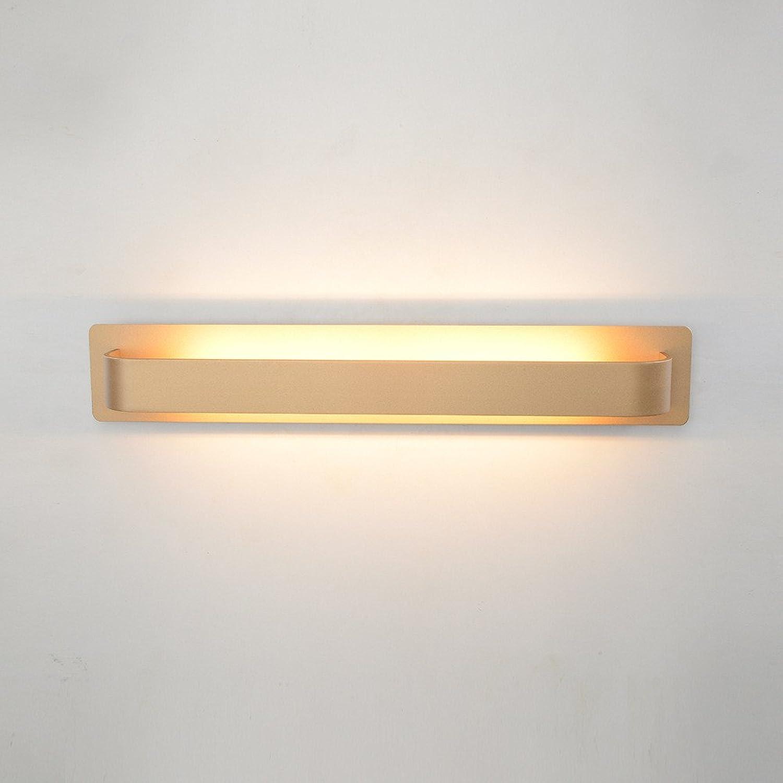 Firsthgus E27 Hotel Wandleuchte Schlafzimmer Nachttischlampe Langlebige Wandlampe, Gold 45X11.3X10Cm