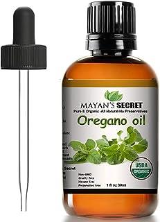 Mayan's Secret USDA Certified Organic Oregano Essential Oil (100% Pure & Natural - UNDILUTED) Therapeutic Grade - Huge 1oz...