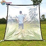 Beihaoer Tela impermeable impermeable para ventanas, protección contra la lluvia, balcón, flores, plantas, refugio visible (2 m x 2 m)