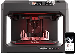 MakerBot Replicator + 3D Printer, with swappable Smart Extruder+, Black (MP07825EU)