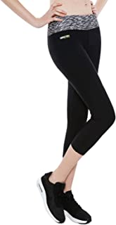 Honeybee Ladies 3/4 Length Push Up Capri Yoga Leggings Women's Workout Pant Running Tight with Inner Pocket HB01