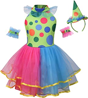 Clown Costume, Funny Role Play for Mardi Gras Dress Up