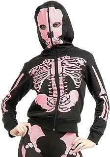 Women's Skeleton Hoodie Costume Sweatshirt