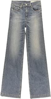 Rag & Bone Women's Justine Denim Classic Rise Wide Leg Jeans Surf Size 26