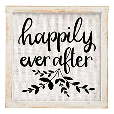Brownlow Gifts Happily Ever After Framed Linen Sign