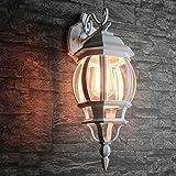 Applique rustico per esterno in bianco E27 da 230V a 60 Watt esterno lampada da esterno lampada da parete illuminazione da giardino cortile patio luminoso