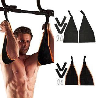 Correas de AB ARMAS PARA COLGAR Pull Up cinturón Crunch Sling eslingas abdominal entrenamiento ajustable para uso de gimnasio en casa