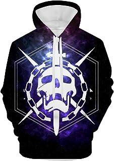 3D Destiny Raid Icon Men's Sweatshirt Hooded Fleece Casual Jacket Hoodies with Pocket Pullover