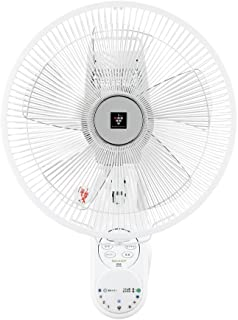 シャープ プラズマクラスター搭載 壁掛け扇風機 リモコン付き ホワイト PJ-H3AK-W