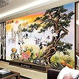 Ljjlm 中国中松ソンヘヤン運勢ラッキー壁画装飾画背景壁カスタム大壁画壁紙-280X200Cm