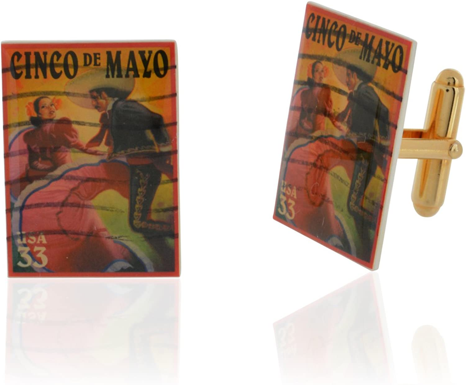 Mexico Cinco De Mayo Cufflinks