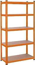 SONGMICS Opslagrek, rek voor zwaar werk, kelderrek, 180 x 90 x 40 cm, belastbaar tot 875 kg, 5 verstelbare legborden, meta...