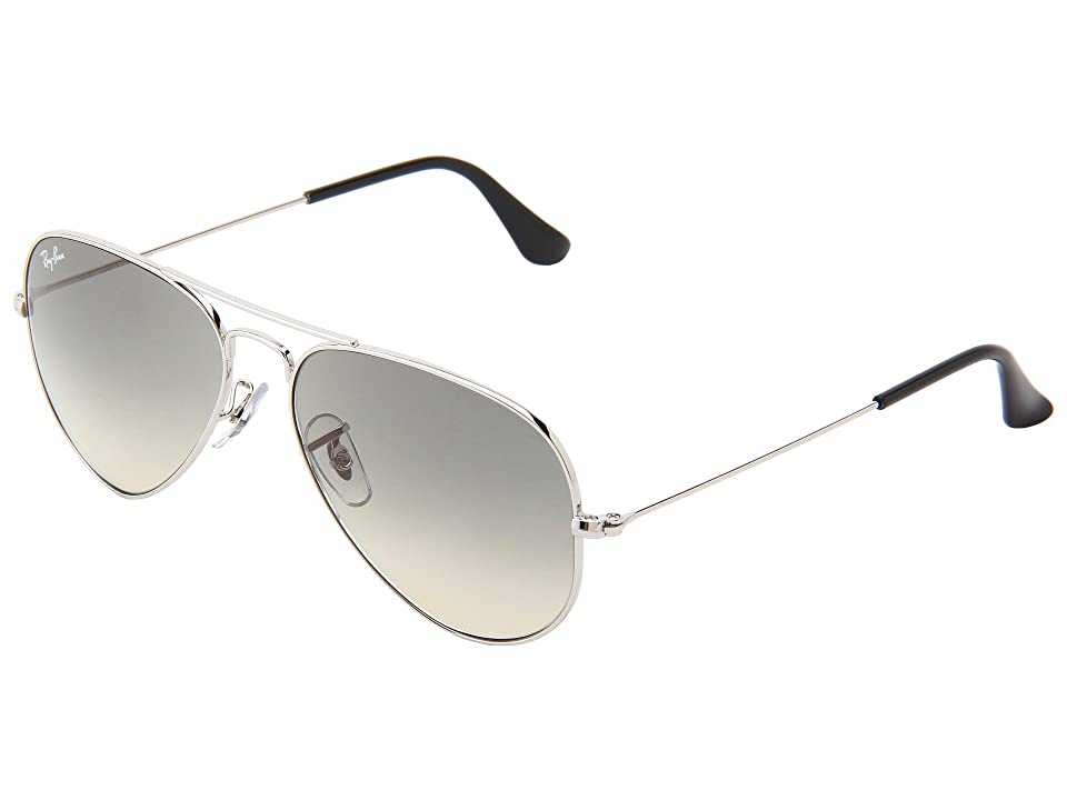 Ray-Ban RB3025 Original Aviator 55mm (Silver/Grey Gradient) Metal Frame Fashion Sunglasses