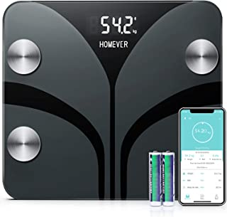 Báscula Grasa Corporal Báscula de Baño Bluetooth Analizar Más de 13 Funciones, Monitores de Composición Corporal, Porcentaje de Grasa Crporal, Masa Muscular, BMI, Grasa Visceral