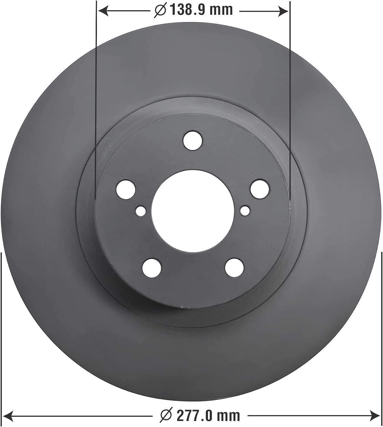 Goodyear Brakes 212814GY Premium AntiOx Classic Front shop Brake Coated Roto