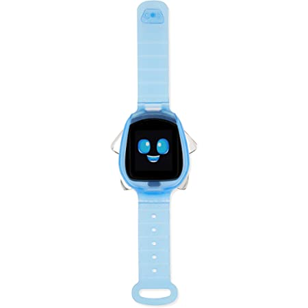 Little Tikes Tobi Robot Smartwatch - Blue with Movable Arms and Legs, Fun Expressions, Sound Effects, Play Games, Track Fitness and Steps, Built-in Cameras for Photo and Video 512 MB | Kids Age 4+