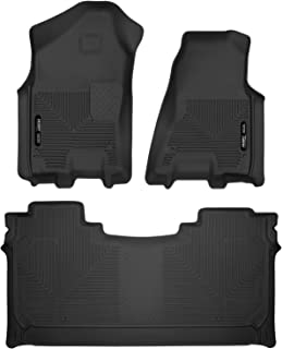 Husky Liners X-act Contour Front & 2nd Seat Floor Liners Fits 2019 Ram 1500 Crew Cab w/ factory storage box